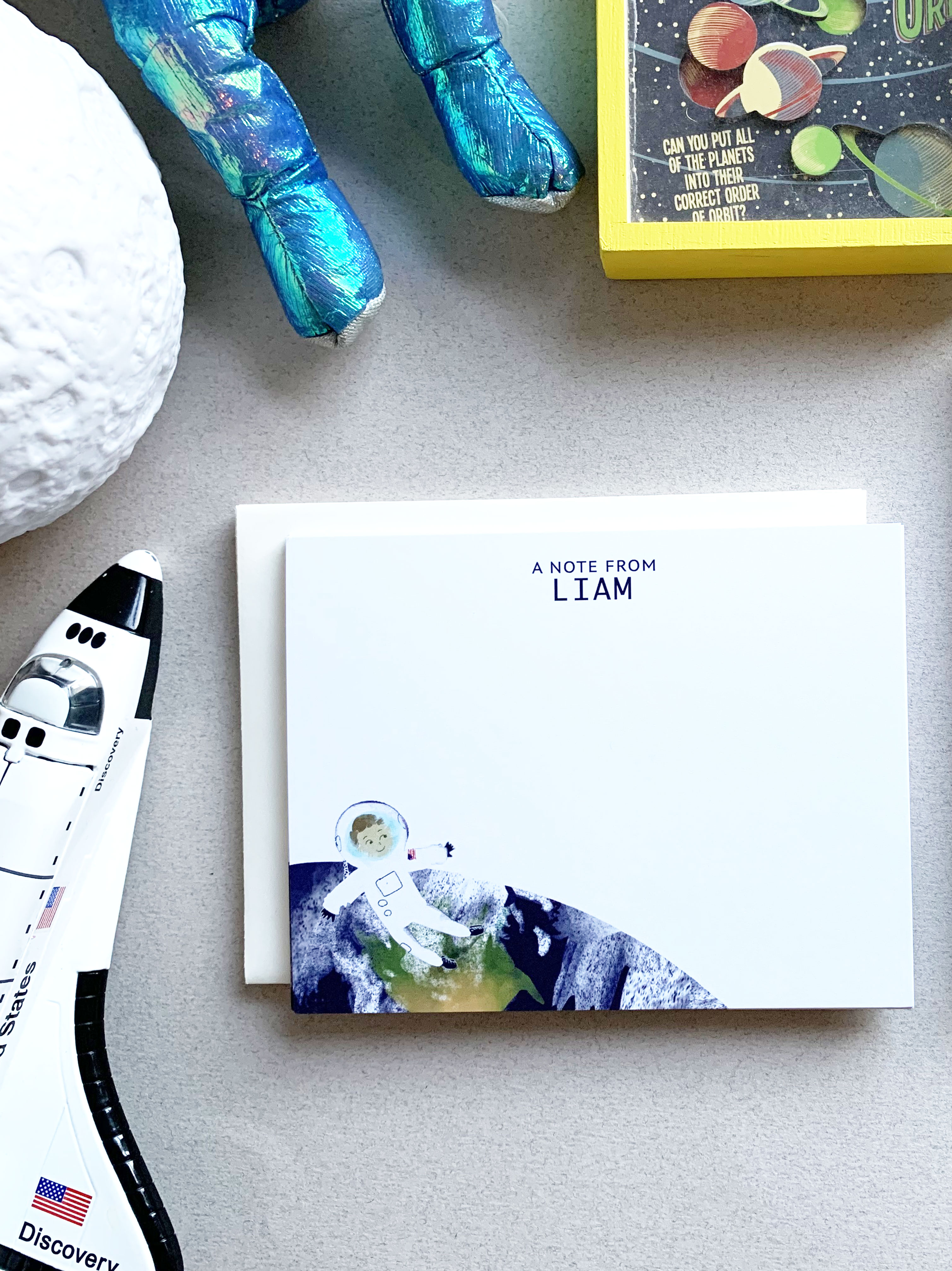 personalized stationery set for kids