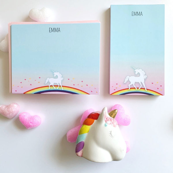 little love press personalized unicorn stationery set for kids