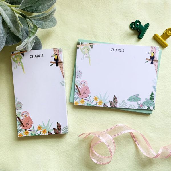 little love press rainforest stationery set for kids