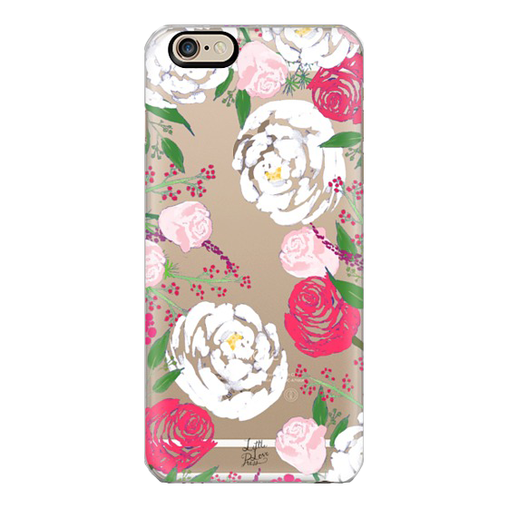 peonies and roses iphone case